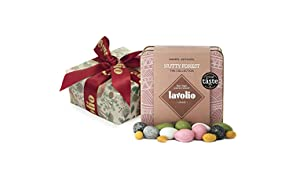 Lavolio Giftwrapped Nutty Forest Confectionery Gift Tin (175g) - Premium Selection of Covered Nuts and Luxury Chocolate Sweets, Perfect Present for Him or Her.