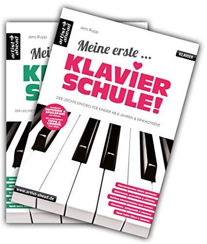 Meine erste Klavierschule & Meine zweite Klavierschule im Set! Lehrbuch für Piano. Klavierstücke. Spielbuch. Klaviernoten. Fingerübungen.