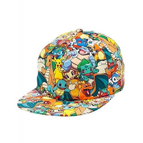 Pokemon-Pikachu-Friend-Patrn-de-mano-Cierre-Snapback-Gorra-de-bisbol-unisex-talla-nica-multicolor-ba1ewypok