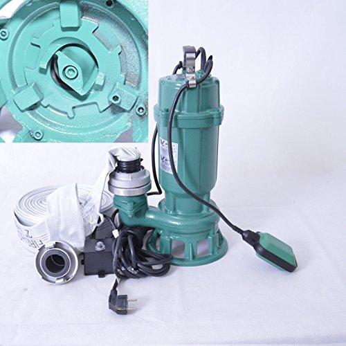 ! Spannung 230V//50Hz Druck 1,8 bar. Profi ! F/ördermenge: 18000l//h // 300 l//min F/äkalienpumpe Tauchpumpe Schmutzwasserpumpe mit Schneidwerk 1,1kW // 1100Watt Anschlu/ß Druckseite 2=5,02cm