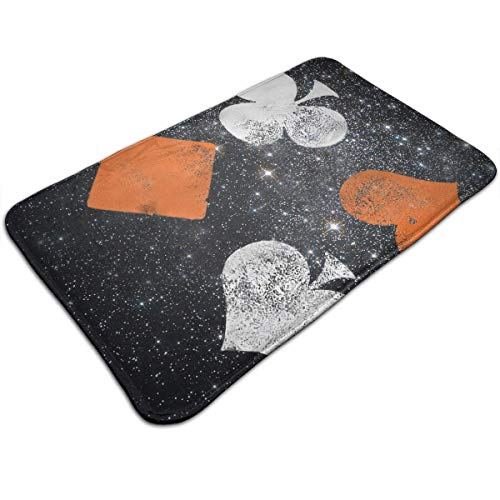 WITHY Poker Bathroom Mat Anti Slippery Door Floor Mat Indoor/Outdoor/Front Entrance Welcome Doormat(15.7X23.6 inch/40X60cm)