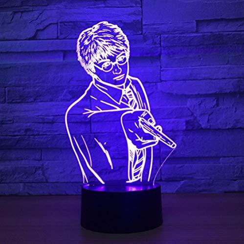 Joplc Gut aussehende Männer 3D Nachtlicht LED Baby Sleeping Night Lampe Berührungsschalter USB Tisch Schreibtischlampe Bestes Geschenk (Für Beste Gute Freunde Halloween-ideen)