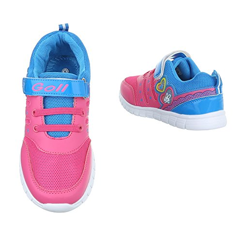 Ital-Design - Low-top Bambina Pink Blau