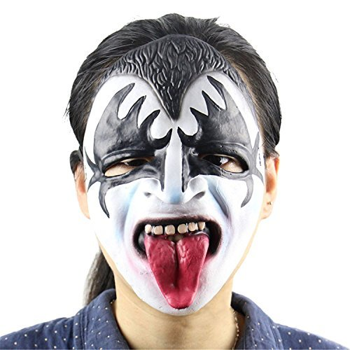 hyalinität & Dora grün Latex Halloween Super Terrorist Maske und Creepy Scary Masquerade Prop für Horror Party oder Kostüm Cosplay (Lange Zunge Zombie Kopf (2 Kostüm Maske Payday)