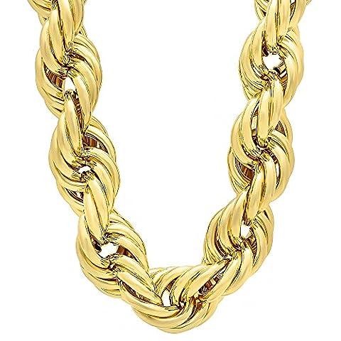 Collier en chaîne à corde Dookie Jumbo en or plaqué