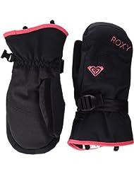 Roxy RX JettySolid Mitt - Mitones de nieve para niña, color negro, talla S