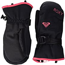 Roxy RX JettySolid Mitt - Mitones de nieve para niña, color negro, talla L