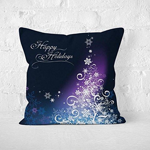 Xshuai 45 cm * 45 cm Durable Weihnachten Leinen Platz werfen Flachs Kissenbezug Dekorative Kissen Kissenbezug (A) (Sammlung Top-reißverschluss-leder)