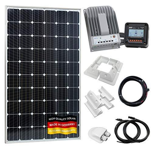 Este 280W 12V/24V Carga Solar Kit incluye:-280W Panel Solar, fabricado en Alemania, a los más altos estándares europeos-20A 12V/24V controlador de carga solar MPPT de alta eficiencia Pantalla LCD-Mando a distancia con 5m de cable later...