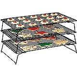 Top Home Solutions® 3Kühlungsrost, Kühlungsablage, Ständer, stabelbar, für Kuchen, Biskuit, platzsparend
