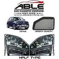 Able Sporty Half Car Magnetic Sun Shade Curtains for Hyundai Venue Set of 4
