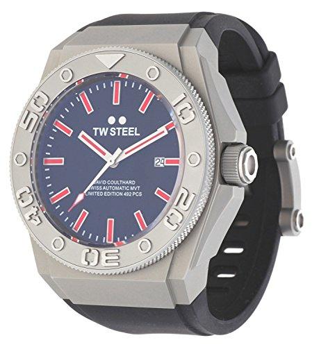TW STEEL Herren Armbanduhr David Coulthard Limited Edition Automatik schwarz TWCE-5005