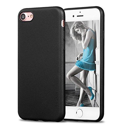 iPhone 7 Hülle, iPhone 8 Hülle,X-level [Guadian Series] Soft Flex TPU Case Ultradünn Echtes Telefongefühl handyhüllen Silikon Bumper Cover Schutz Tasche Schale Schutzhülle für iPhone 7/ iPhone 8 silik Schwarz