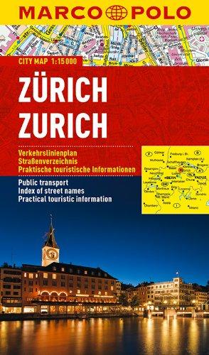 MARCO POLO Cityplan Zürich 1:15 000: Stadsplattegrond 1:15 000 (MARCO POLO Citypläne) (Zürich Karte)