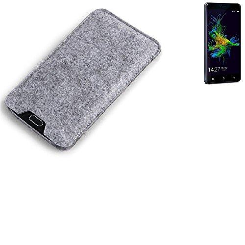 K-S-Trade Filz Schutz Hülle für Allview P8 Energy Mini Schutzhülle Filztasche Filz Tasche Case Sleeve Handyhülle Filzhülle grau
