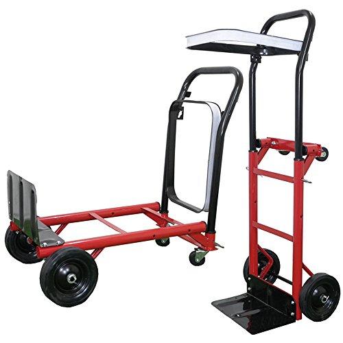 Pandamoto Heavy Duty Folding Sack Truck Hand Trolley Garden Cart Barrow 80 kg/176lbs Test