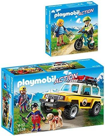 PLAYMOBIL® PLAYMOBIL® PLAYMOBIL® Action set en 2 parties 9128 9129 montagnesauveteur véhicule  montagnesportif | Une Bonne Réputation Dans Le Monde Entier  ba5c60