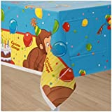 MyBirthdaySupplies Curious George Table cover Pack of 1