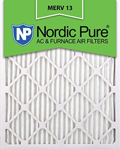 Nordic Pure 16 x 24 x 1 m13-6 16 x 24 x 1 MERV 13 Bundfaltenhose AC Ofen Air Filter, Box 6 Stück, 1 (Ac-filter 16x16x1)