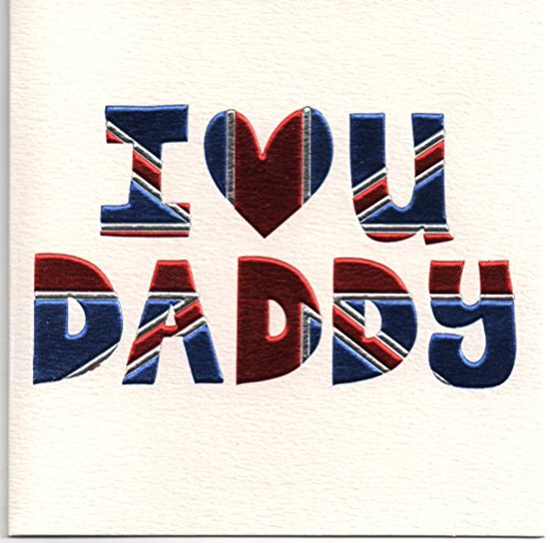 Quiksilver-karte (Grußkarte-I love you Daddy. Kostenloser 1st Class UK Post)