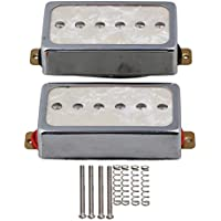 Yibuy Silber Farbe Perle P90 Single Coil Bridge & Hals Pickups für E-Gitarre Teile