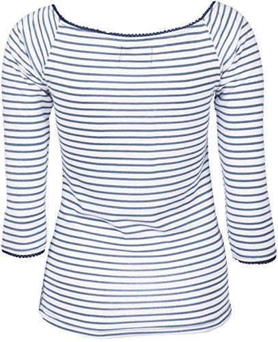 Küstenluder KIZZY V-Neck Sailor Striped Nautical Pin Up Oberteil SHIRT Rockabil -