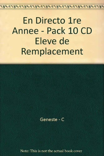 en-directo-1re-annee-pack-10-cd-eleve-de-remplacement