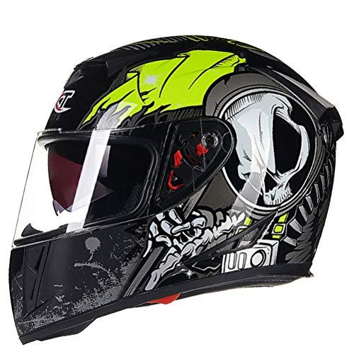 Doppi occhiali da sole per bici da corsa Moutain Motocross Antiurto Anti caduta Racing Off Road Moto Rally Casco Stagioni universali Caschi moto integrali