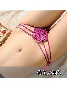 RRRRZ*Lotus ricamo senso di trasparenza la biancheria intima femminile tentazione di pizzo per pantaloni, low-rise...