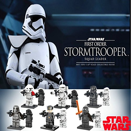 12Pcs Star Wars 7 Minifigures The Force Awakens Kylo Ren Captain Phasma Building Blocks Set Figures Bricks Toys (Lego Minifiguren-set Star Wars)