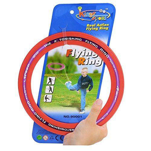 Flying Ring Sprint Ring Wurfspiel Wurfring 25cm Kinder Spielzeug ab 3 Jahren für Familie Freizeit Sport, Rot