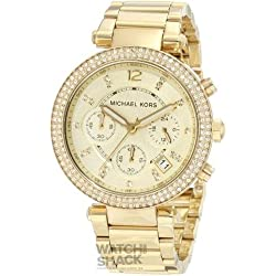 MK5354 Ladies Michael Kors Chronograph Stone Set Watch