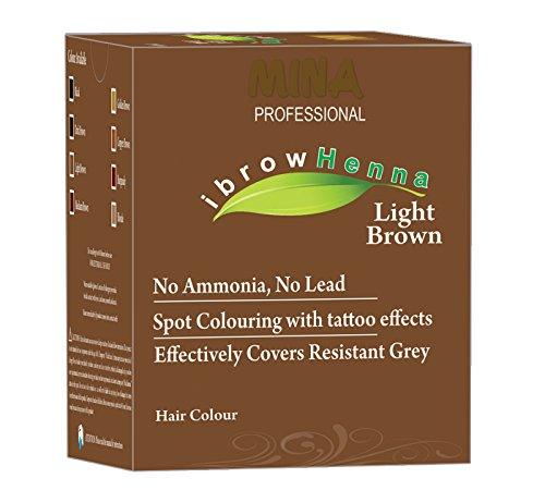 Mina Professional ibrow Henna Light Brown Refill Pack