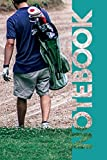 Notebook: Golfer Bag Vibrant Compostion Book for Golf Caddy