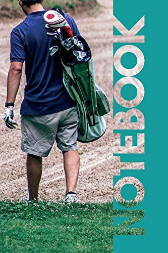 Notebook: Golfer Bag Vibrant Compostion Book for Golf Caddy