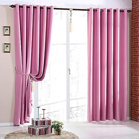 Pink Blackout Curtains Ready Made Ring Top Eyelet Energy Saving