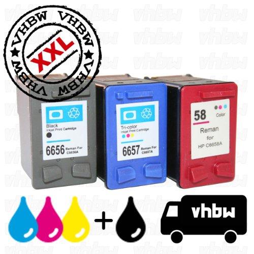Kompatibel Photo Color Tinte (Vorteilspack Bundle Tintenpatronen Druckerpatronen Patronen Tinte Refill schwarz Black Photo Color farbig kompatibel für HP 56 & 57 & 58)