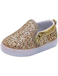 Elecenty Paillettes Regalo Bambino Scarpe LED Sportive Sneakers Multi-Colore  Luminoso Scarpe con Luce 1 fb70a08010d