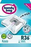 Handy Bag - R 36 - Sac Aspirateur Microfibre Anti-allergène + Filtre Moteur Rowenta Artec 2 Silence force