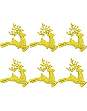 Masti Zone 6 pcs Christmas Tree Ornaments Xmas Tree hangings Reindeer Christmas Tree Decoration