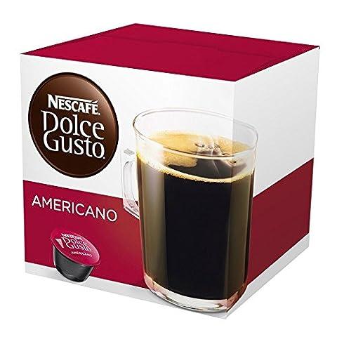 Coffee Capsules, Americano, 1.86 oz., 16 per Box
