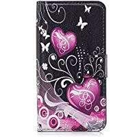 Funda tipo cartera para iPhone, diseño transparente de alta calidad, piel sintética, TPU, resistente a los golpes, ranuras para tarjetas, cierre magnético, función atril, funda tipo libro para iPhone