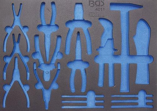 BGS 3/3 Werkstattwageneinlage für Zangen, Hammer, Splinttreiber, leer, 1 Stück, 4011-5