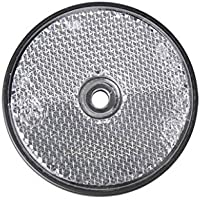 Reflecteur Signalisation Remorque Caravane - VISSER - Rond 60mm - BLANC
