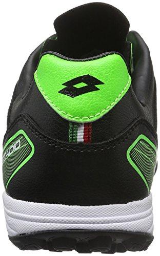 Lotto Stadio 300 TF, Chaussures de Foot Homme Noir (Blk/Mint Fl)