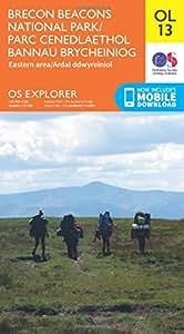 OS Explorer OL13 Brecon Beacons National Park - Eastern area (OS Explorer Map)
