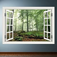 Window Frame Full Colour Forest wall art sticker decal transfer mural Graphic WSD4