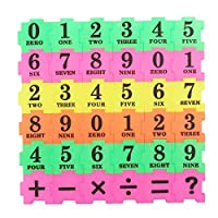 Kalaokei 36Pcs Baby Children Multicolor Number Symbol Puzzle Maths Educational Toy Gifts