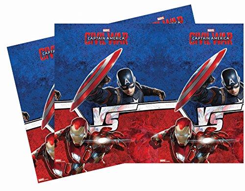 Unique Party Supplies Kunststoff Captain America Bürgerkrieg Tischdecke, 1,8m x 1,2m