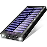 Best Solar Phone Chargers - Power Bank TSSIBE 24000mAh Portable Charger with 4 Review